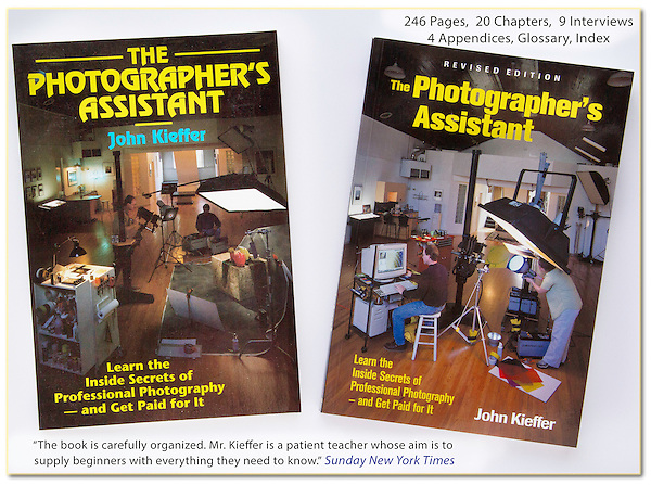 As a photographer's assistant, I work for (and learn from) many skilled photographers, both in the studio and on location.<br />