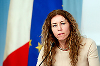 Minister of Regional Affairs Erika Stefani<br /> Rome December 21st 2018. Palazzo Chigi. Press conference at the end of Minister's cabinet.<br /> Foto Samantha Zucchi Insidefoto