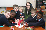Grace Clarke from Droichead Arts Centre with children from St Patricks NS in the lead up to Valentines Day...Photo NEWSFILE/Jenny Matthews.(Photo credit should read Jenny Matthews/NEWSFILE)....This Picture has been sent you under the condtions enclosed by:.Newsfile Ltd..The Studio,.Millmount Abbey,.Drogheda,.Co Meath..Ireland..Tel: +353(0)41-9871240.Fax: +353(0)41-9871260.GSM: +353(0)86-2500958.email: pictures@newsfile.ie.www.newsfile.ie.FTP: 193.120.102.198.