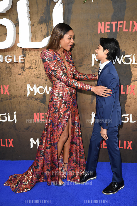 """LONDON, UK. December 04, 2018: Naomie Harris & Rohand Chand at the""""Mowgli: Legend of the Jungle"""" premiere at the Curzon Mayfair, London.<br /> Picture: Steve Vas/Featureflash"""