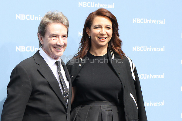 NEW YORK, NY - MAY 16: Martin Short and Maya Rudolph at the NBCUniversal 2016 Upfront at Radio City Music Hall in New York City on May 16, 2016. Credit: RW/MediaPunch