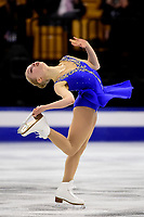 Thursday, March 31, 2016: Viveca Lindfors (FIN) competes in the Ladies Short Program at the International Skating Union World Championship held at TD Garden, in Boston, Massachusetts. Eric Canha/CSM