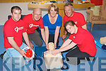 HEART: At Cu?il Di?din Nursing Home Castlemaine Road,. Tralee on Monday the Heart Foundation launched the F.A.S.T.given a demonstration on saving a life were, L-r: Mark McManus, Sarah McCarthy, Christy Costelloe, Margaret Foley (instructor) and Derek Wood................................... ....