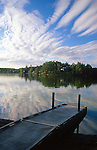 Dock on Sabattus Pond, Sabattus, Androscoggin County, Maine, USA