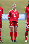 Amanda Cicchini, of Canada, on Sunday June 26th, 2005, during an international friendly soccer match at Virginia Beach Sportsplex in Virginia Beach, Virginia. The United States won the game 2-0.