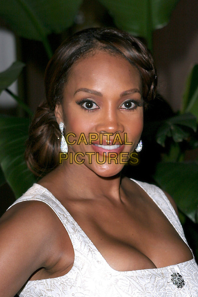 VIVICA A. FOX.The Hollywood Reporter's Annual Women in Entertainment Power 100 Breakfast - Arrivals held at the Beverly Hills Hotel, Beverly Hills, California..December 6th, 2005.Photo: Zach Lipp/AdMedia/Capital Pictures.Ref: ZL/ADM.headshot portrait cleavage dangling diamond earrings brooch.www.capitalpictures.com.sales@capitalpictures.com.© Capital Pictures.