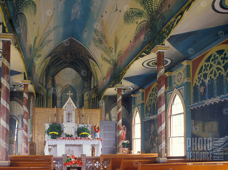 "Interior of """"The Painted Church"""" near the City of Refuge."