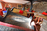 Pictured: Interior view of the Bridge End Inn.<br /> Re: Cleanup after storm Dennis in Crickhowell, Wales, UK.