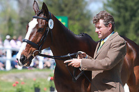 LEXINGTON, KY - April 26, 2017. #61 Steady Eddie and Boyd Martin from the USA at the Rolex Three Day Event First Horse Inspection at the Kentucky Horse Park.  Lexington, Kentucky. (Photo by Candice Chavez/Eclipse Sportswire/Getty Images)
