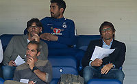 Chelsea Manager Antonio Conte looks unimpressed with the 1st half during the U23 Premier League 2 match between Chelsea and Everton at the EBB Stadium, Aldershot, England on 25 August 2017. Photo by Andy Rowland.
