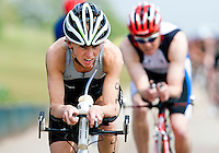 14 MAY 2010 - HOLME PIERREPONT, GBR - Sharon Hill -  VUE National Emergency Services Triathlon Championships .(PHOTO (C) NIGEL FARROW)