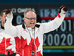 Pyeongchang, Korea, 17/3/2018-Dennis Thiessen competes in the bronze medal game of wheelchair curling during the 2018 Paralympic Games. Photo: Scott Grant/Canadian Paralympic Committee.