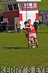 Daingean Úi Chúis Mícheal Ó Flannabhra and Listowel Emmets Jack McGuire in an action during the CFL Div. 1 match at Pairc an Aghasaigh, Dingle, on Sunday afternoon.