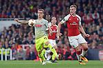 14.09.2017, Emirates Stadium, London, GER, Europa League, Arsenal London vs 1. FC Koeln, im Bild<br /> <br /> im Zweikampf von links: Simon Zoller ( Koeln #11 ), Rob Holding ( Arsenal #16 )<br /> <br /> <br /> Foto &copy; nordphoto / Treese