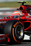 Ferrari's Kimi Raikkonen drives during a practice session at the Circuit de Catalunya on May 9, 2014. <br /> PHOTOCALL3000/PD