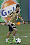 22 May 2013:  Oscar (11)(BRA) of Chelsea.  Chelsea F.C. practice session in preparation for an exhibition match against Manchester City at Busch Stadium in Saint Louis, Missouri.