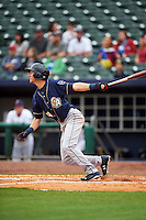 San Antonio Missions shortstop Trea Turner (4) at bat during a game against the NW Arkansas Naturals on May 31, 2015 at Arvest Ballpark in Springdale, Arkansas.  NW Arkansas defeated San Antonio 3-1.  (Mike Janes/Four Seam Images)