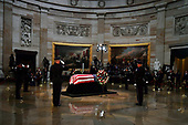 Senator John McCain lies in state at the U.S. Capitol, in Washington, DC on Friday, August 31, 2018. McCain, an Arizona Republican, presidential candidate, and war hero, died August 25th at the age of 81. He is the 31st person to lie in state at the Capitol in 166 years. Photo Ken Cedeno/UPI