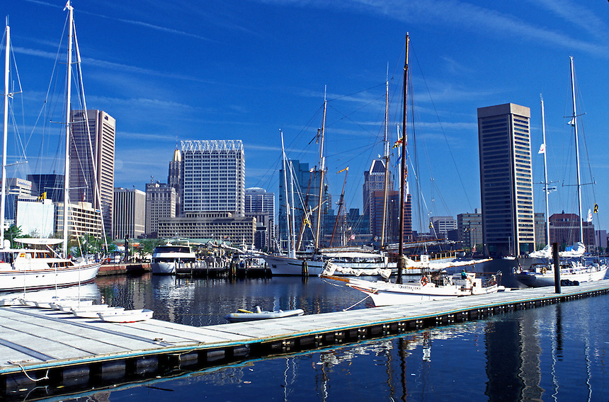 Baltimore, Maryland, Inner Harbor, Downtown Skyline