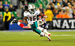 7 December 2008: Miami Dolphins' Davone Bess gains yards in the first quarter against the Buffalo Bills during the first regular season NFL game ever to be played in Canada. The Dolphins defeated the Bills 16-3 at the Rogers Centre in Toronto, Ontario. ..Mandatory Photo Credit: Ed Wolfstein Photo