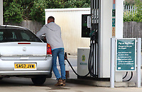 Morrisons Petrol Station selling unleaded petrol at 99.7p per litre, the first time since 2016 petrol has been sold below £1 per litre.<br /> The global oil market crash triggered by the coronavirus lockdown has seen the crude oil price plummet to a near 20 year low.†Now, led by UK Supermarket chains, Unleaded petrol is now on sale throughout the country at below £1 per litre. Bedford, UK May 16th 2020†<br /> CAP/ROS<br /> ©ROS/Capital Pictures