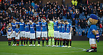 Rangers team lines up in tribute to the fans who never came home