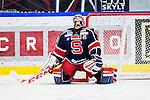 S&ouml;dert&auml;lje 2014-01-06 Ishockey Hockeyallsvenskan S&ouml;dert&auml;lje SK - Malm&ouml; Redhawks :  <br />  S&ouml;dert&auml;ljes m&aring;lvakt Sebastian Idoff deppar efter att Malm&ouml; Redhawks Mattias Persson gjort m&aring;l p&aring; straff  straffl&auml;ggningen efter sudden death<br /> (Foto: Kenta J&ouml;nsson) Nyckelord:  depp besviken besvikelse sorg ledsen deppig nedst&auml;md uppgiven sad disappointment disappointed dejected