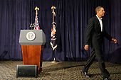 Honolulu, HI - December 28, 2009 -- United States President Barack Obama walks away fromt he podium after making a statement on increased security for air travel at Marine Corps Base Hawaii on Monday, December 28, 2009 in Kaneohe Bay, Hawaii. Security measures have been heightened at airports after a Nigerian man, Umar Farouk Abdulmutallab, 23, attempted to blow up Northwest 253 flight as it was landing in Detroit on Christmas day.  .Credit: Kent Nishimura / Pool via CNP