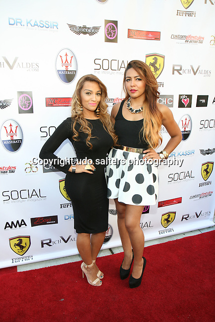 Xio and Artist Makeup Academy's President Juliette Laracuente Attend Metropolitan Bikini Fashion Weekend 2013 Held at BOA Sponsored by Social Magazine, Maserati and Ferrari, Hoboken NJ
