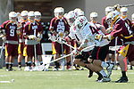 Orange, CA 05/02/10 - Ben Petraglia (Chapman # 44), Chas Stiegler (Chapman # 8) and Ryan Murray (ASU # 22) in action during the Chapman-Arizona State MCLA SLC Division I final at Wilson Field on Chapman University's campus.  Arizona State defeated Chapman 13-12 in overtime.