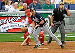 12 April 2008: Atlanta Braves' outfielder Jeff Francoeur in action against the Washington Nationals at Nationals Park, in Washington, DC. The Braves defeated the Nationals 10-2...Mandatory Photo Credit: Ed Wolfstein Photo