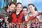 On the fiddle at the Comhaltas concert in Killarney Credit Union Friday evening was l-r: Mairead O'Donoghue, Sarah Cronin, Norita Cashman and Cliona Creedon Glenflesk.   Copyright Kerry's Eye 2008