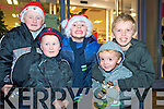 Pictured at the switching on of the Christmas lights in Killarney on Friday night were Darragh and Aaron Brennan, Ryan Booth, Eoin and Mathew Moynihan.