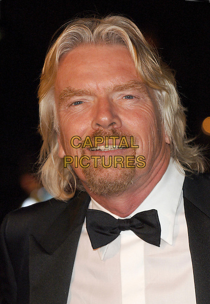 "RICHARD BRANSON.The world premiere of ""Casino Royale"", Odeon Leicester Square, London, England..November 14th, 2007.james bond 007 portrait headshot bow tie goatee facial hair .CAP/BEL.©Belcher/Capital Pictures"