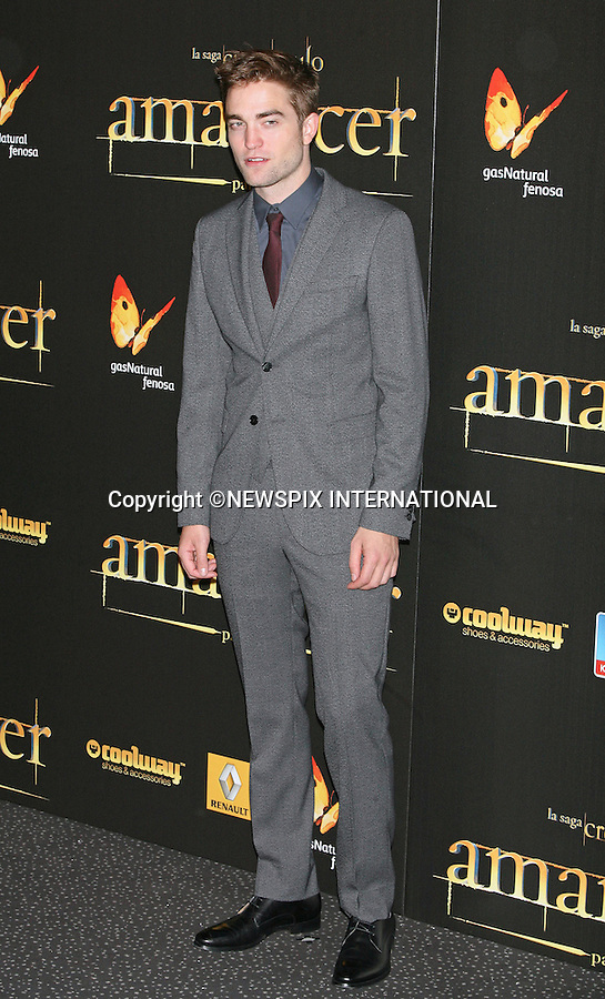 """ROBERT PATTINSON.attends the 'The Twilight Saga: Breaking Dawn - Part 2' Premiere at the Kinepolis Cinema , Madrid_15/11/2012.Mandatory Credit Photo: ©NEWSPIX INTERNATIONAL..**ALL FEES PAYABLE TO: """"NEWSPIX INTERNATIONAL""""**..IMMEDIATE CONFIRMATION OF USAGE REQUIRED:.Newspix International, 31 Chinnery Hill, Bishop's Stortford, ENGLAND CM23 3PS.Tel:+441279 324672  ; Fax: +441279656877.Mobile:  07775681153.e-mail: info@newspixinternational.co.uk"""