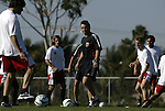 12 November 2004: DC United head coach Peter Nowak (center). DC United held a team practice on the practice fields at the Home Depot Center in Carson, CA two days before they were scheduled to play the Kansas City Wizards in the MLS Cup 2004, Major League Soccer's championship game..