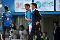 (L to R) Kazuyoshi Miura (Yokohama FC),  Motohiro Yamaguchi head coach (Yokohama FC),.MARCH 25, 2012 - Football /Soccer : 2012 J.LEAGUE Division 2 ,5th sec match between Yokohama FC 0-2 Ventforet Kofu at NHK Spring Mitsuzawa Football Stadium, Kanagawa, Japan. (Photo by Jun Tsukida/AFLO SPORT) [0003].