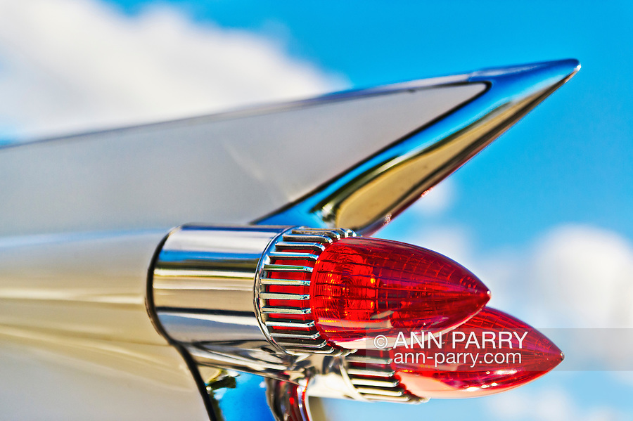 1959 Cadillac convertible tailfin, with double bullet taillights