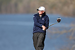BROWNS SUMMIT, NC - APRIL 02: Penn State's Jackie Rogowicz tees off on the 16th hole. The third round of the Bryan National Collegiate Women's Golf Tournament was held on April 2, 2017, at the Bryan Park Champions Course in Browns Summit, NC.