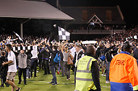 Fans storm the pitch during the Sky Bet Championship play off semi final 2nd leg match between Fulham and Derby County at Craven Cottage, London, England on 15 May 2018. Photo by Carlton Myrie / PRiME Media Images.