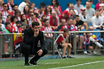Coach Diego Simeone of Atletico de Madrid reacts during their La Liga match between Atletico de Madrid vs Athletic de Bilbao at the Estadio Vicente Calderon on 21 May 2017 in Madrid, Spain. Photo by Diego Gonzalez Souto / Power Sport Images