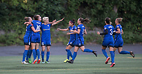 Seattle, WA - Saturday July 22, 2017: Lindsay Elston, Carson Pickett, Beverly Yanez, Megan Rapinoe, Nahomi Kawasumi, Christine Nairn, Lauren Barnes, Merritt Mathias during a regular season National Women's Soccer League (NWSL) match between the Seattle Reign FC and Sky Blue FC at Memorial Stadium.