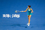 Julia Goerges of Germany hits a return during the singles semi final match of the WTA Elite Trophy Zhuhai 2017 against Anastasija Sevastova of Latvia at Hengqin Tennis Center on November  04, 2017 in Zhuhai, China. Photo by Yu Chun Christopher Wong / Power Sport Images