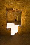 Pueblo Bonito-tee door and doorways..Chaco Culture National Historical Park