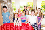 Gearoid O'Sullivan, Tessa Keane, Jack Spratt, Chantelle Yvonne Gearing, Ava O'Sullivan, Ellie O'Sullivan, Chloe O'Sullivan and Niamh Buckley enjoying the Kerry Branch of Spina Bifida ireland Family Fun Day at Ballygarry House on Sunday