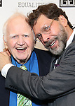"Malachy McCourt and David Staller attends the Opening Night of The Gingold Theatrical Group production of Bernard Shaw's ""Caesar & Cleopatra"" at Theatre Row Theatre on September 24, 2019 in New York City."
