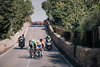 breakaway group about to get caught by the charging peloton<br /> <br /> 27th Challenge Ciclista Mallorca 2018<br /> Trofeo Campos-Porreres-Felanitx-Ses Salines: 176km