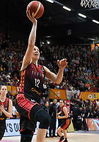 20200206 – OOSTENDE ,  BELGIUM : Belgian Ann Wauters (12) pictured during a basketball game between the national teams of Canada and the National team of Belgium named the Belgian Cats on the first matchday of the FIBA Women's Qualifying Tournament 2020 , on Thursday 6  th February 2020 at the Versluys Dome in Oostende  , Belgium  .  PHOTO SPORTPIX.BE   DAVID CATRY