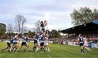 Bedford, England. General view of play during The Championship Bedford Blues vs Newcastle Falcons at Goldington Road  Bedford, England on November 3, 2012