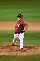 Billings Mustangs relief pitcher Patrick Raby (59) during a Pioneer League game against the Grand Junction Rockies at Dehler Park on August 15, 2019 in Billings, Montana. Billings defeated Grand Junction 11-2. (Zachary Lucy/Four Seam Images)